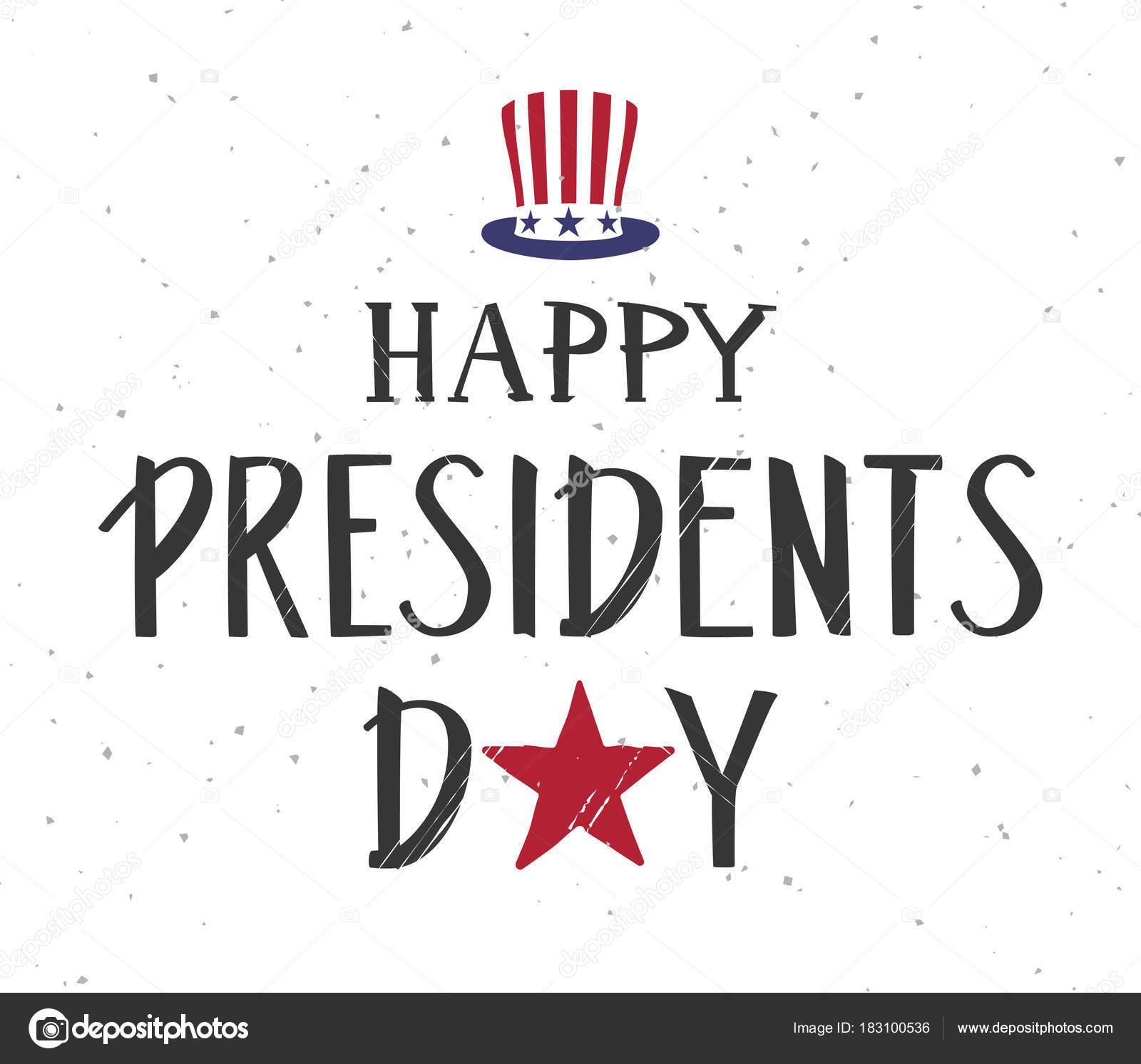 Glücklich Präsidenten Tag Text. Onkel Sam Hut Symbol usa ...