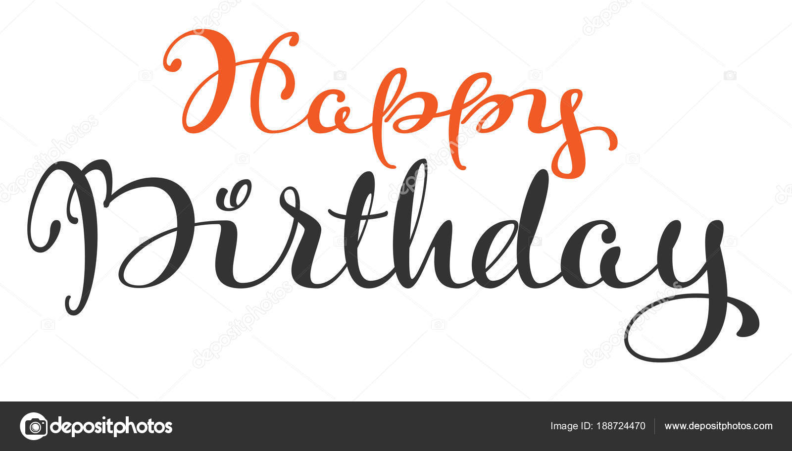 Aniversario De Texto: Mão De Feliz Aniversário Escrita Texto Ornamentado
