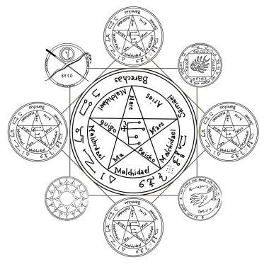 Occult ancient magic symbol. A vector element.
