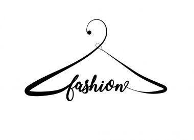 Creative fashion logo design. Vector sign with lettering and han