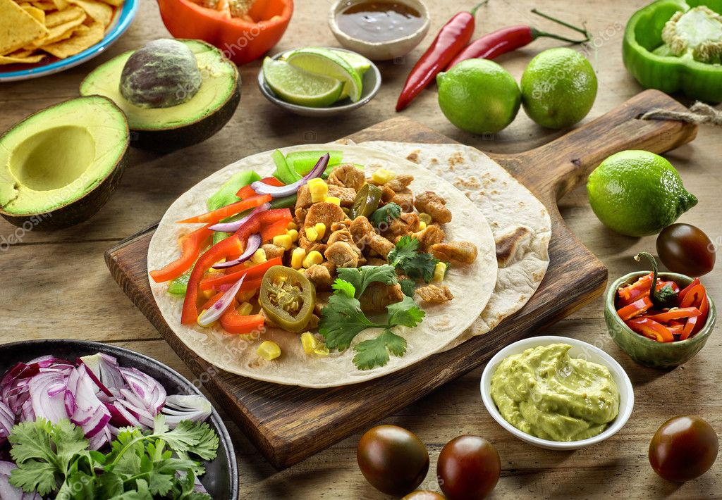 ingredientes da comida mexicana stock photo magone