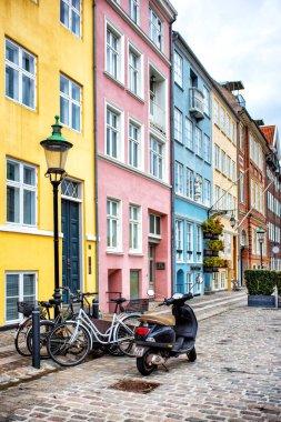 Copenhagen, Denmark - MARCH 29, 2017: View of Nyhavn colorful houses stock vector