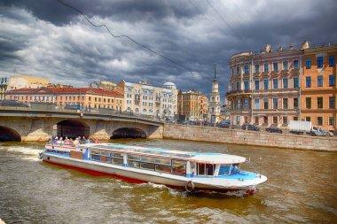 Fontanka river. Saint-Petersburg , Belinsky Bridge