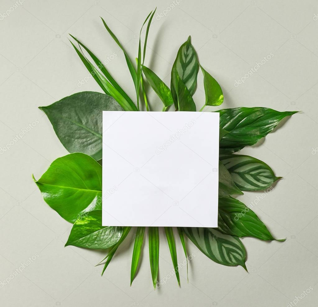 bouquet of tropical leaves