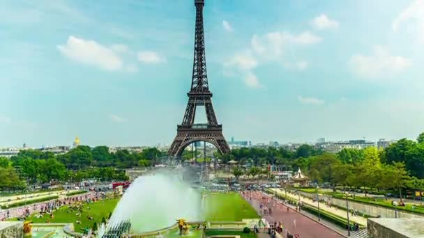 The Eiffel Tower In Paris, 4K Time-lapse