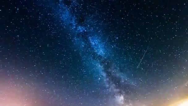 Starry sky, the Milky Way, 4k time-lapse