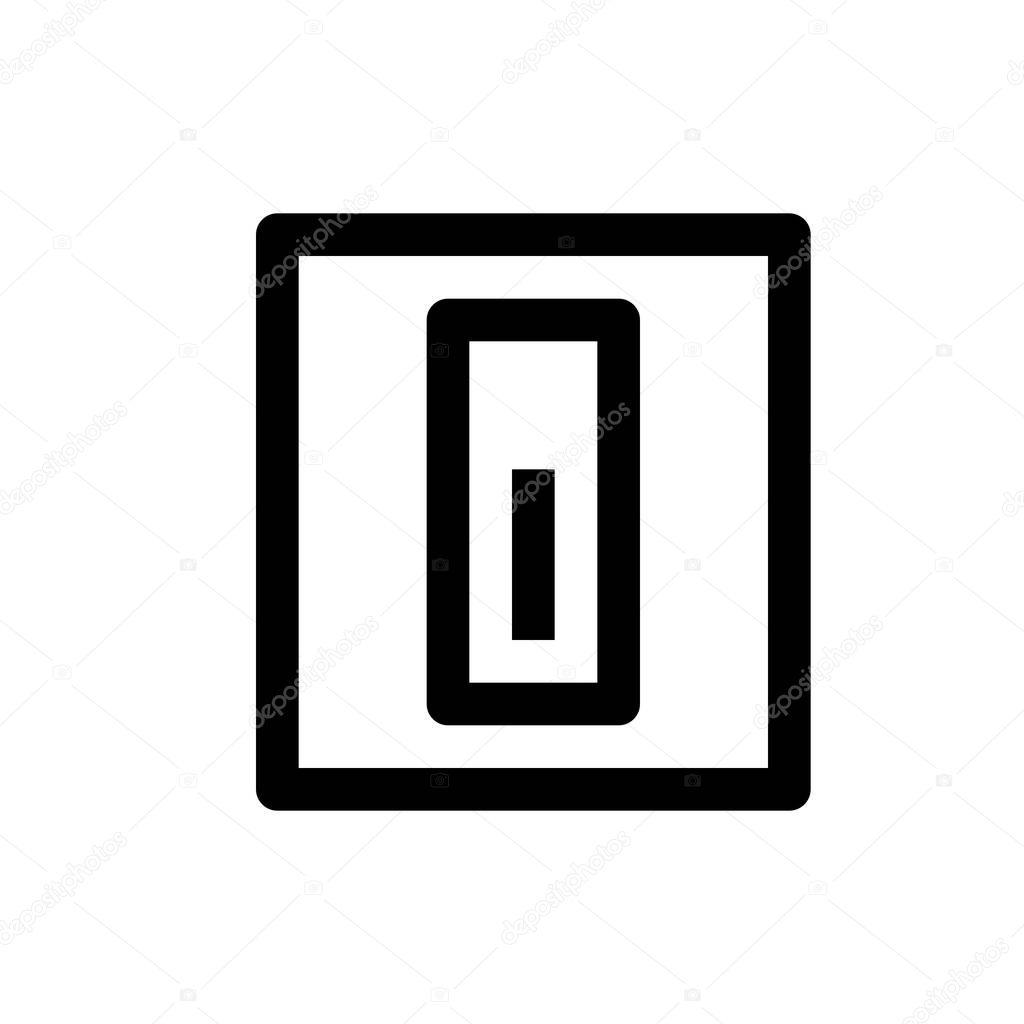 Elektrische Schalter Symbol — Stockvektor © get4net #159637768