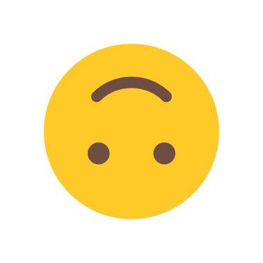 "Картина, постер, плакат, фотообои ""вверх тормашками emoji веб значок"", артикул 159643122"