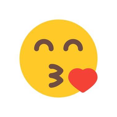 emoji blowing kiss icon