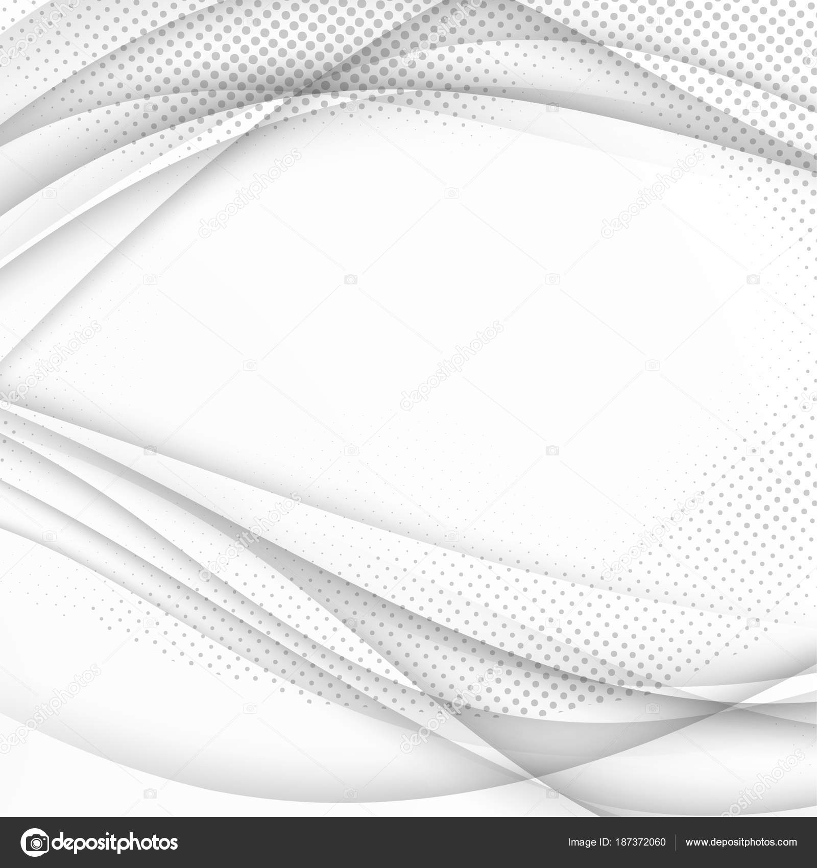 Smooth Halftone Grayscale Abstract Wave Background Template ...