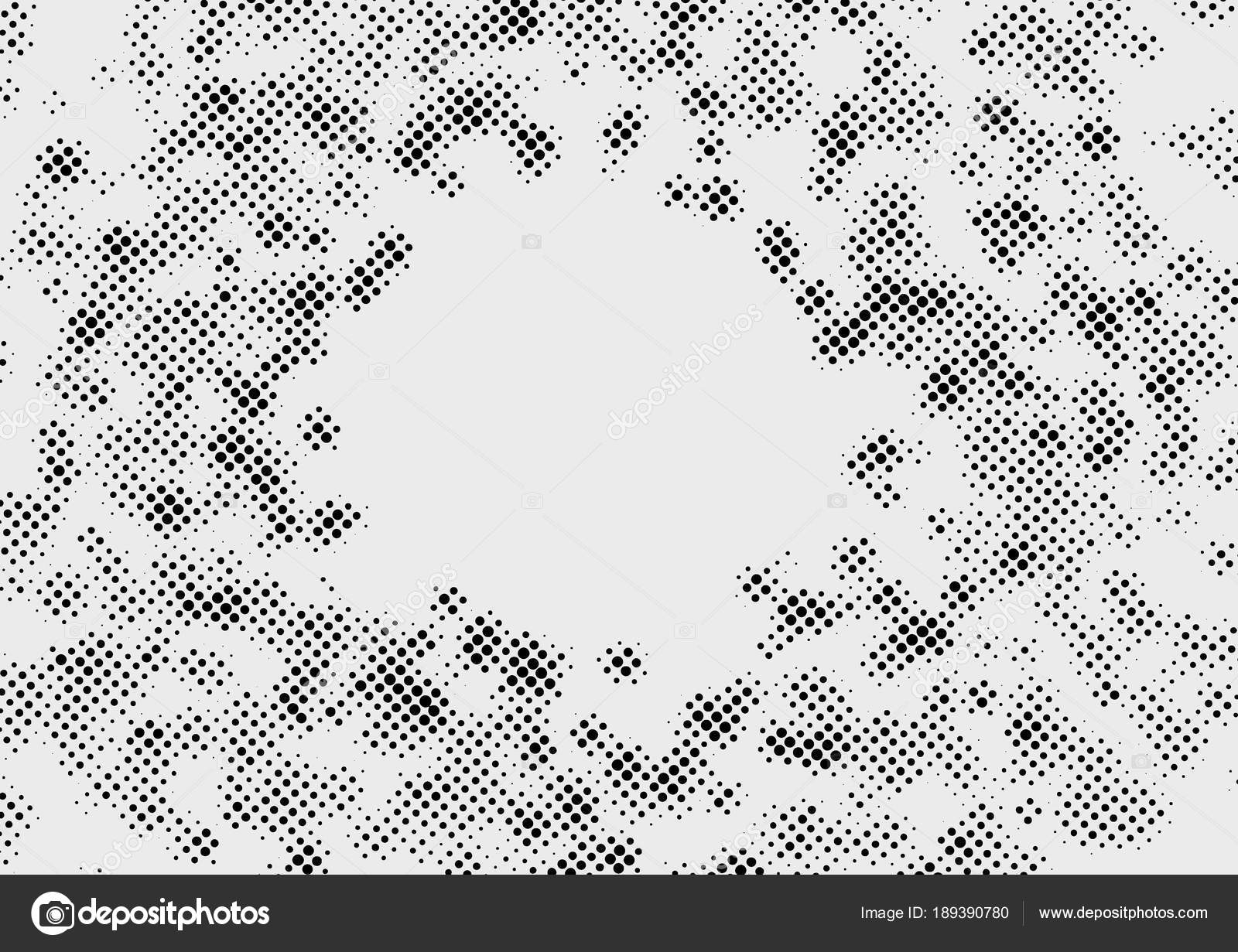 Polka Dot Old Comic Book Style Dotted Template Abstract Halftone Round Black Circles Minimalistic Graphic Design Over Grey Background Layout
