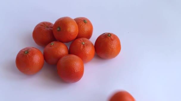 mandarinka, bílé pozadí