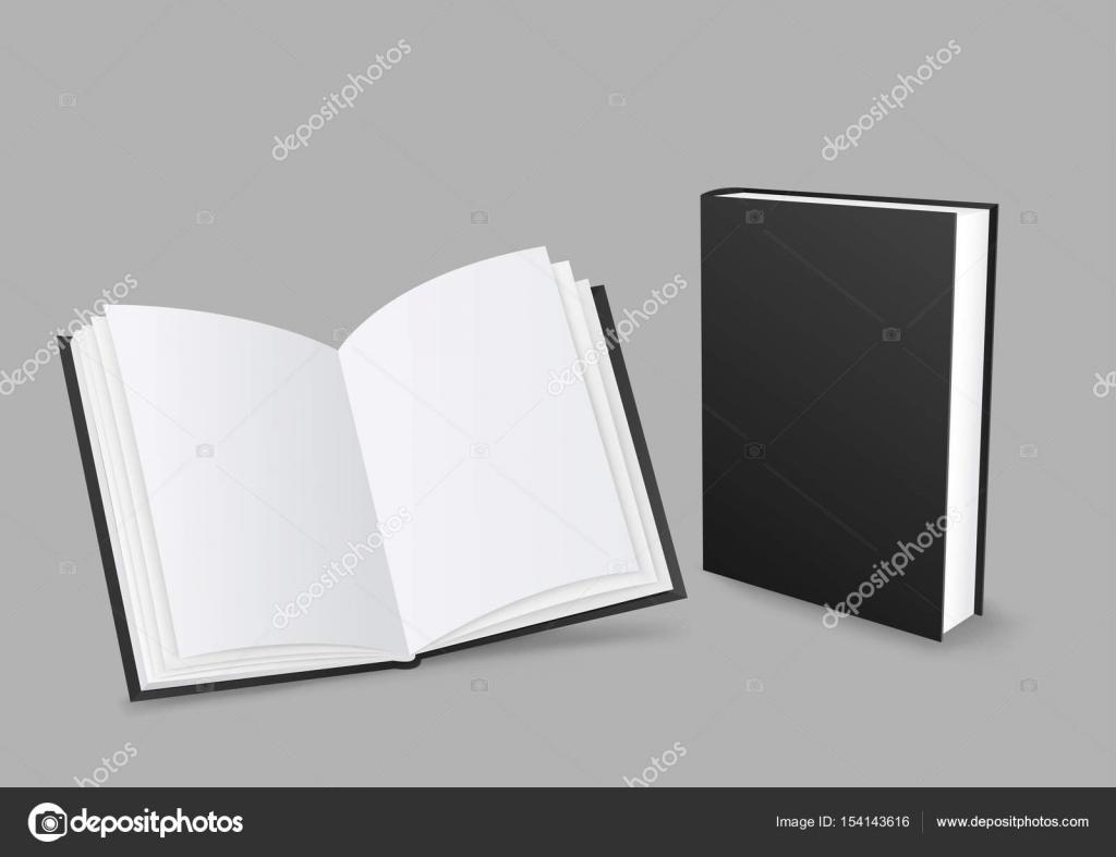 Livre Noir Ouvert Et Ferme Image Vectorielle Romvo79