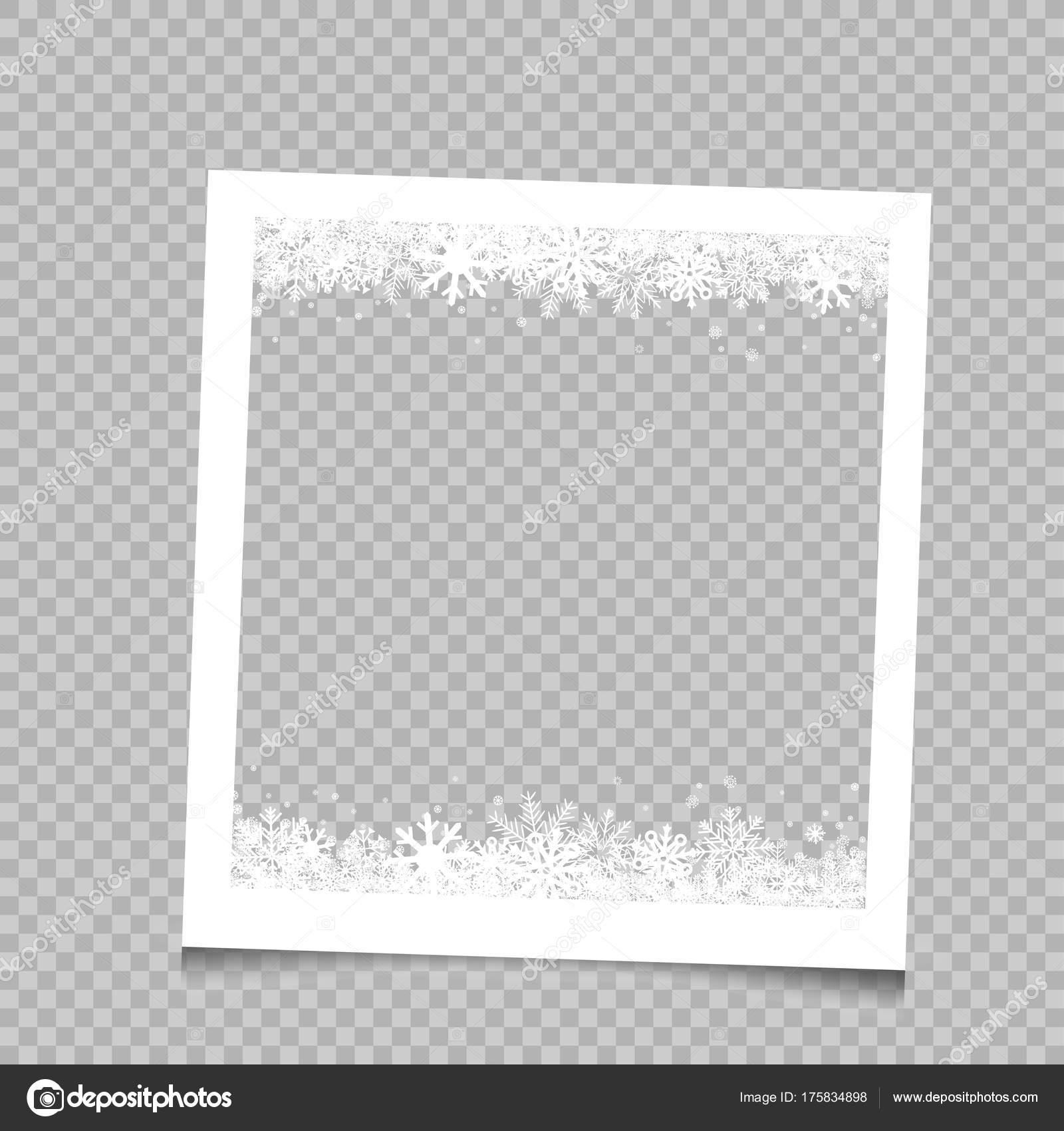 Quadratischer Rahmen Weihnachten Schnee — Stockvektor © romvo79 ...