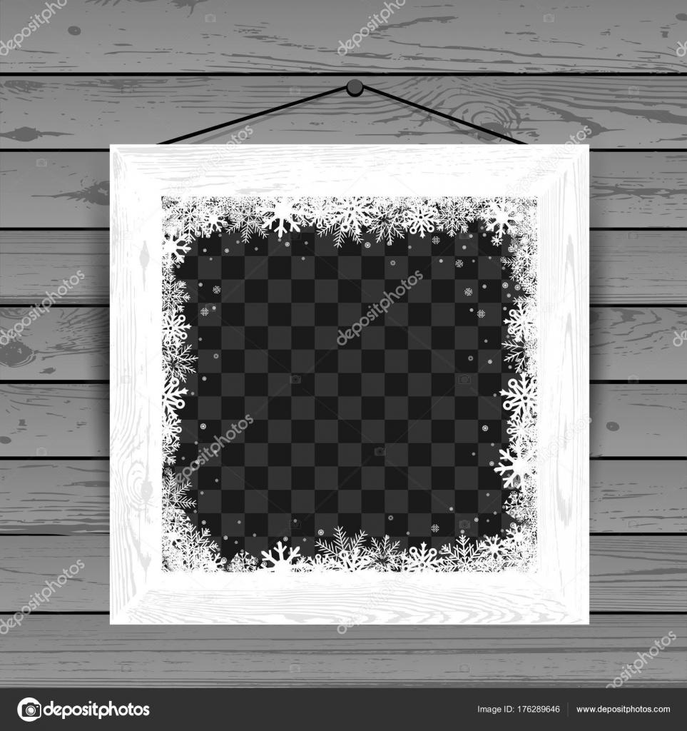 Witte Houten Fotolijst.Winter Wit Houten Fotolijst Stockvector C Romvo79 176289646