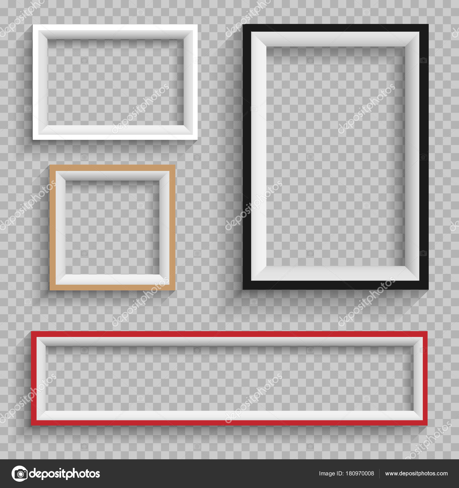 frames set on transparent background — Stock Vector © romvo79 #180970008