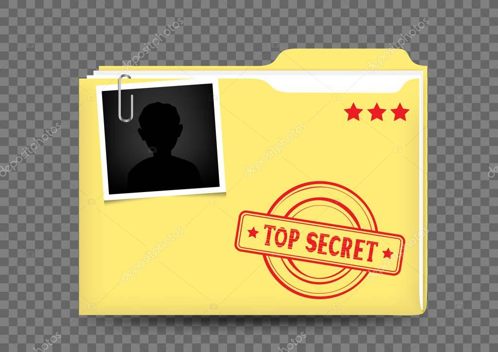 dossier top secret sur transparent  u2014 image vectorielle