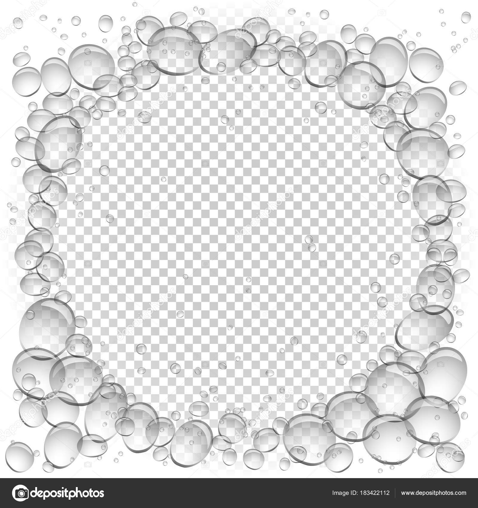 Wasser Bläschen Kreis Rahmen transparent — Stockvektor © romvo79 ...