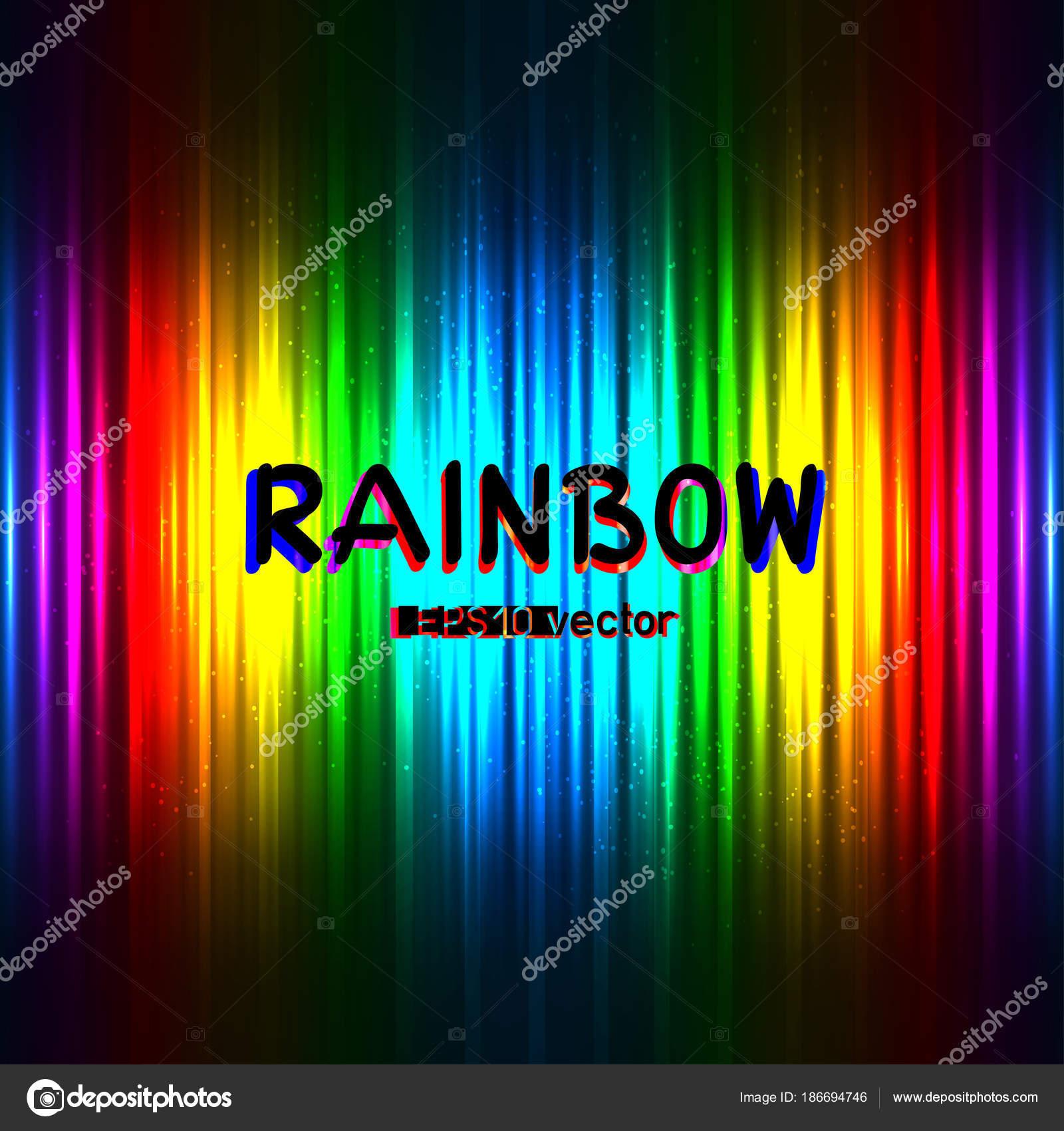 Цвет текста радуга