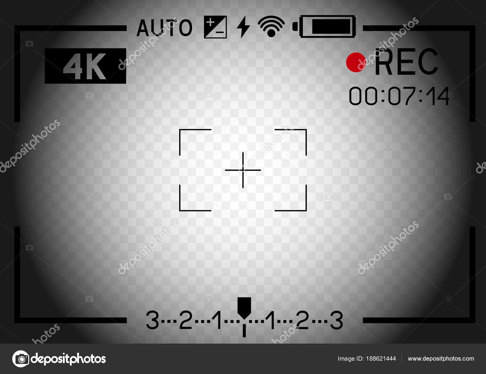 4 k Video Kamera Sucher Loch — Stockvektor © romvo79 #188621444