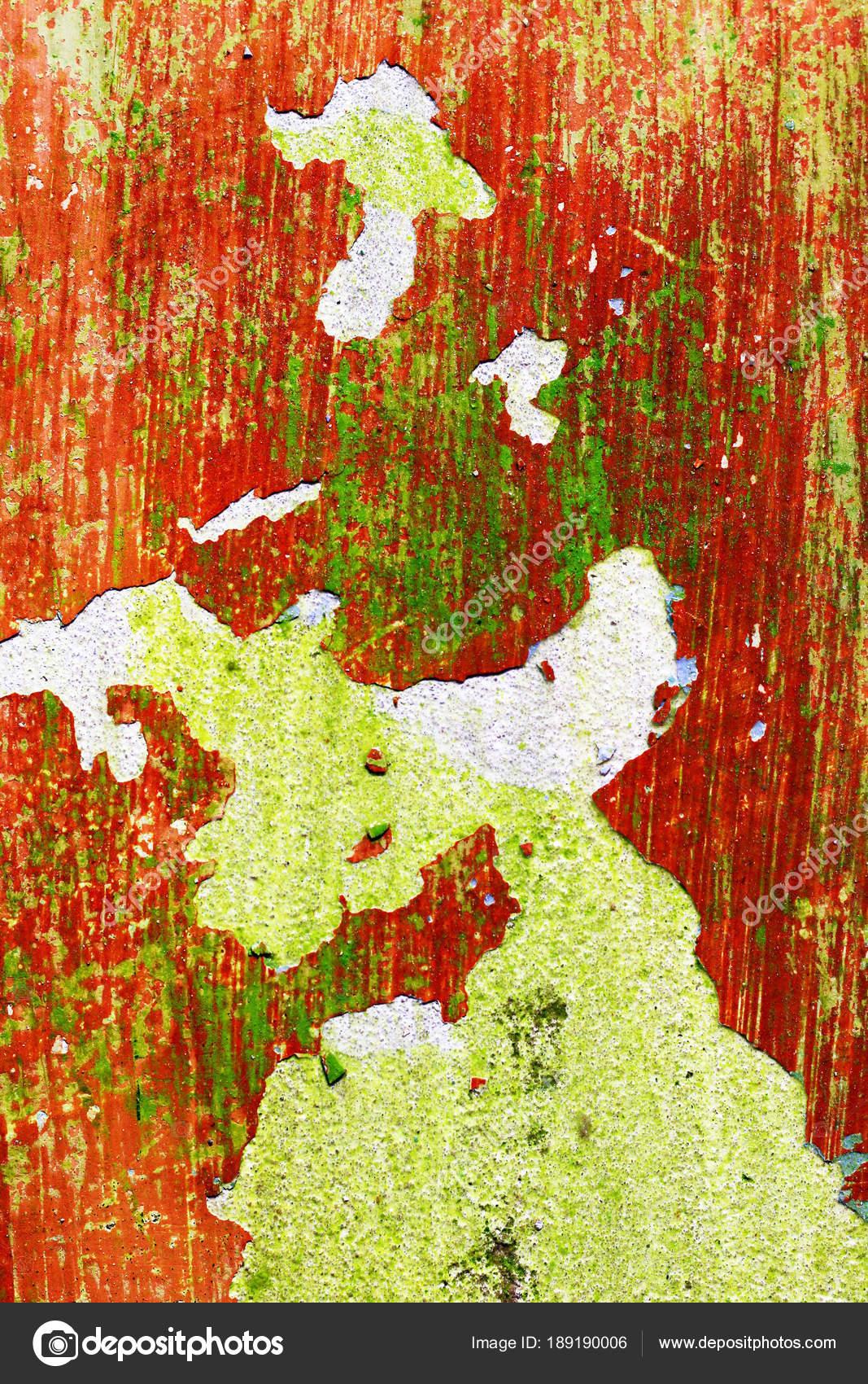 Grüne Und Rote Senkrechte Wand Vor Der Reparatur. Grobe Hausarbeit Tapete  Design Hintergrund. Farbe Raum Innendekoration Textur Vorlagenhintergrund U2014  Foto ...