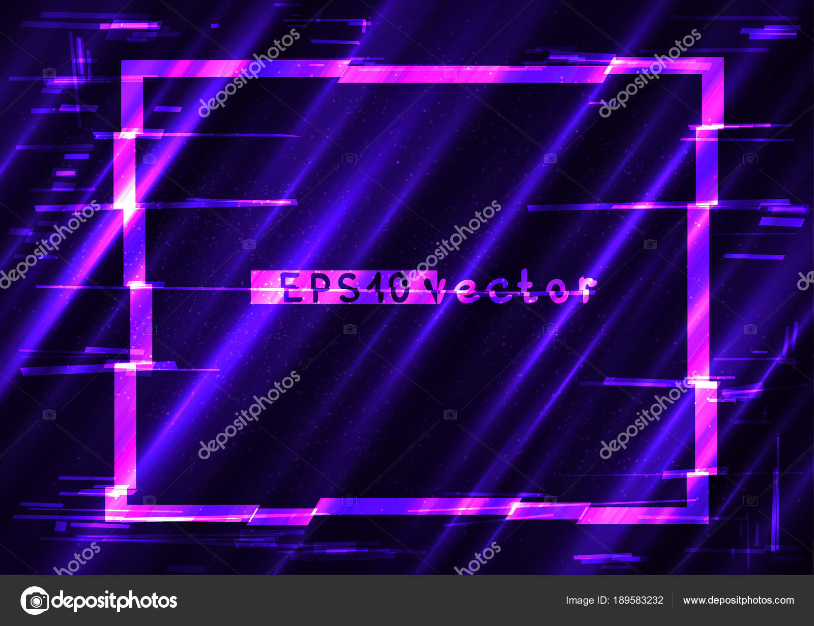 glitch rectangle light shape template stock vector romvo79