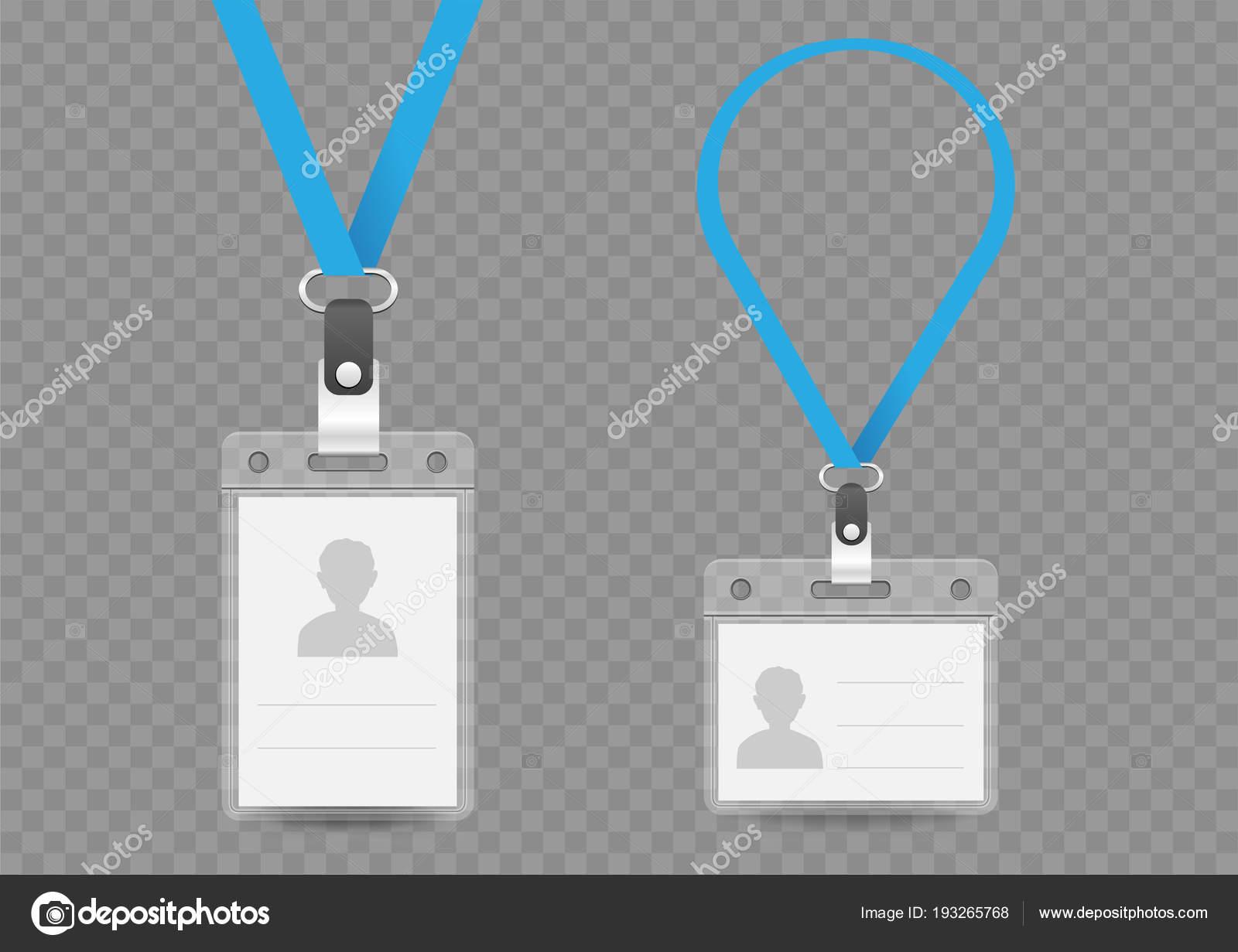 badge empty template and lanyard — Stock Vector © romvo79 #193265768