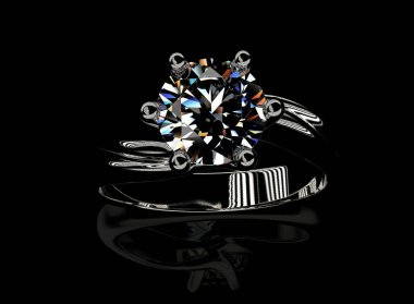 elegant ring with gem