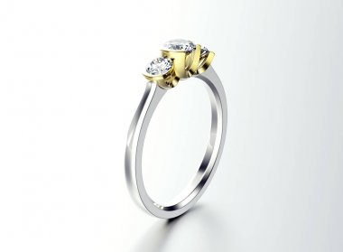 tiny ring with gems