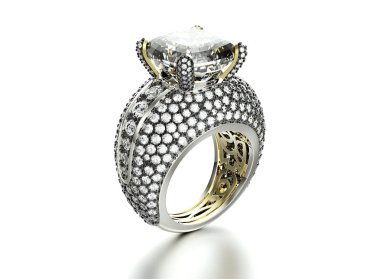 massive ring with gems
