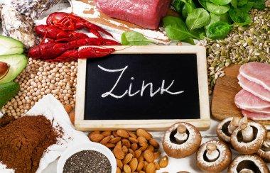 Foods Highest in Zink. Healthy diet food.