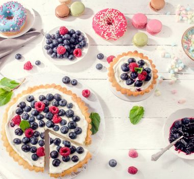 Sweet cakes and desserts
