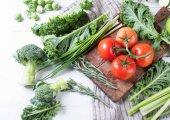 Čerstvá syrová zelenina. Zdravé jídlo