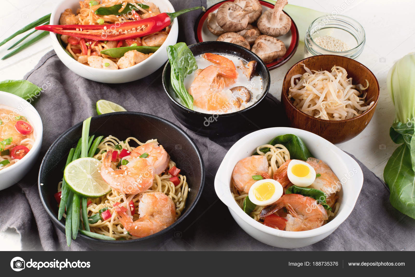 Thai Food Traditional Asian Cuisine Top View Stock Photo C Bit245