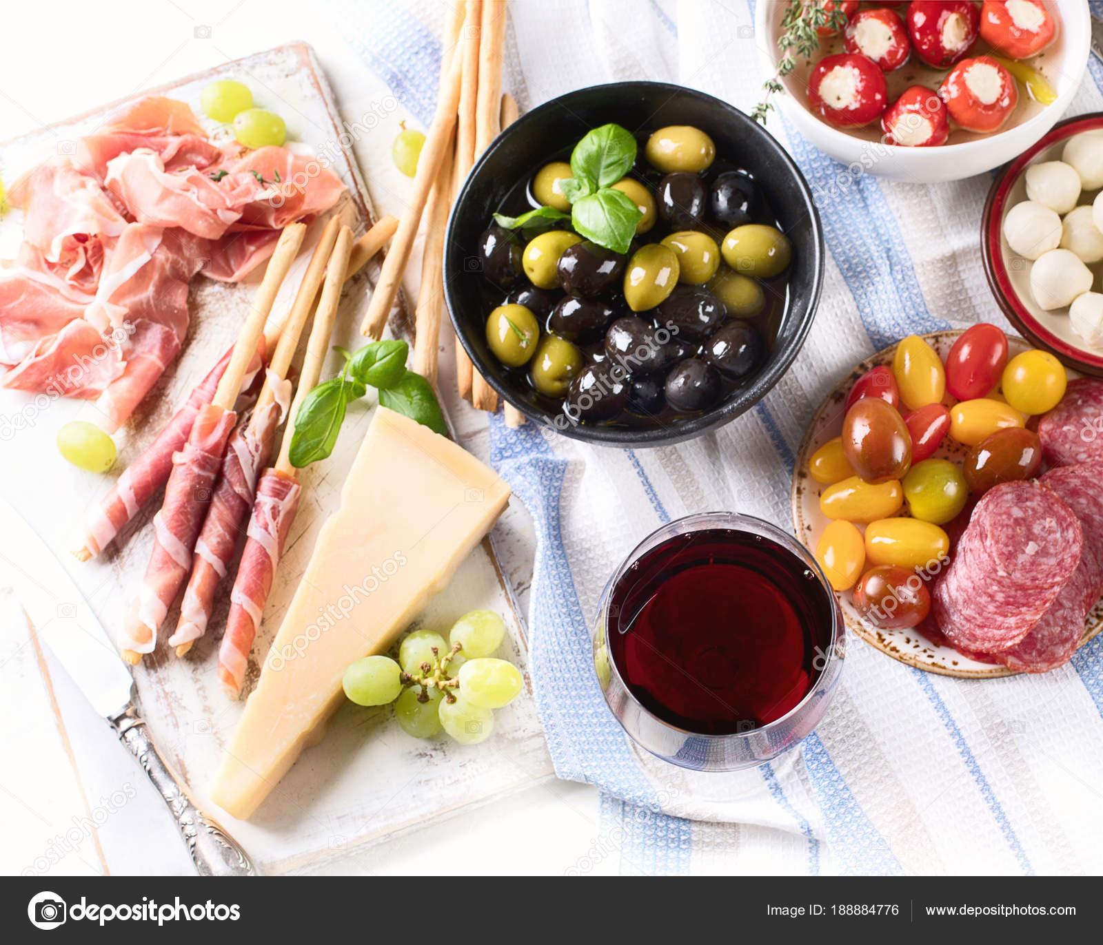 Typical Italian Antipasto Mixed Antipasto Platter Traditional Italian Food Stock Photo C Bit245 188884776