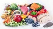 Fotografie Vyvážená strava potravin pozadí.
