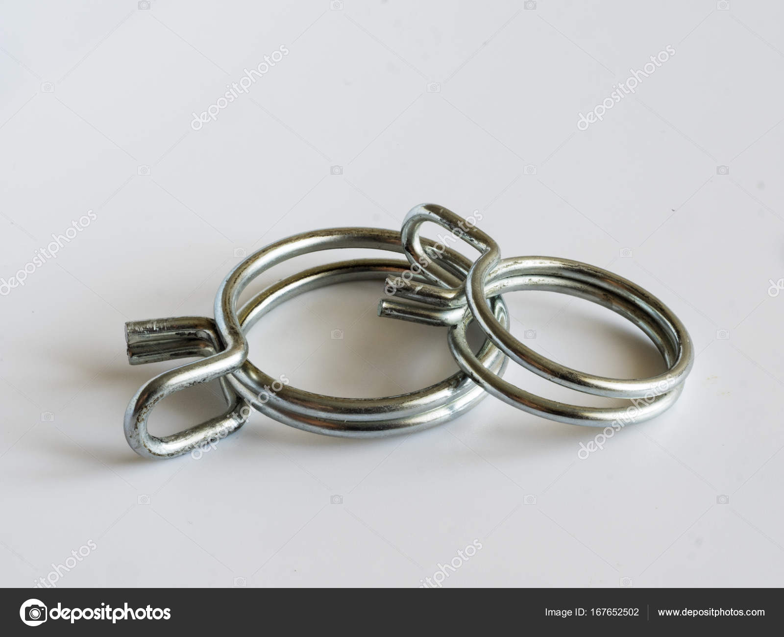 Double Wire Spring hose clips — Stock Photo © igorgolovniov #167652502