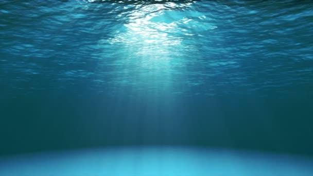 Dark Blue Ocean Surface Seen From Underwater (4k Video