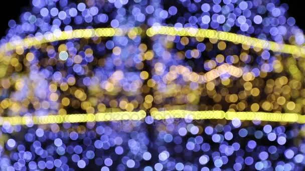 Bokeh z vánoční světla dekorace