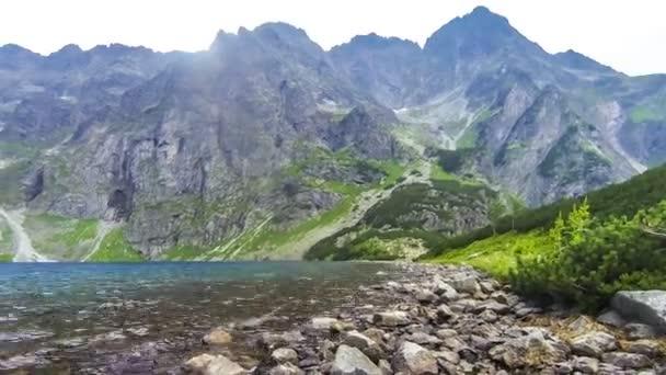 Černé jezero pod Mount Rysy v Tatrách, Polsko