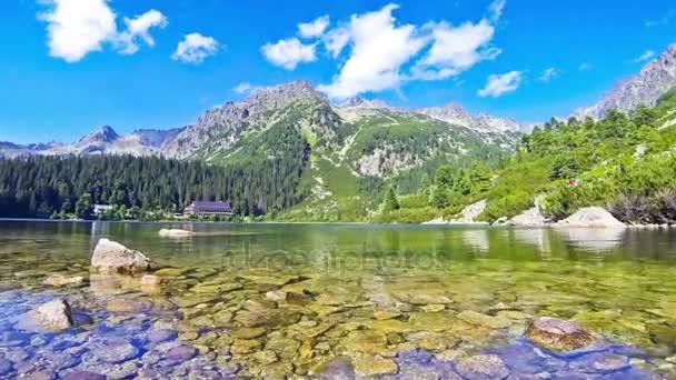 Lake Popradske pleso in High Tatras, Slovakia