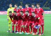 Přátelskou hru Ukrajina v Srbsku v Charkově