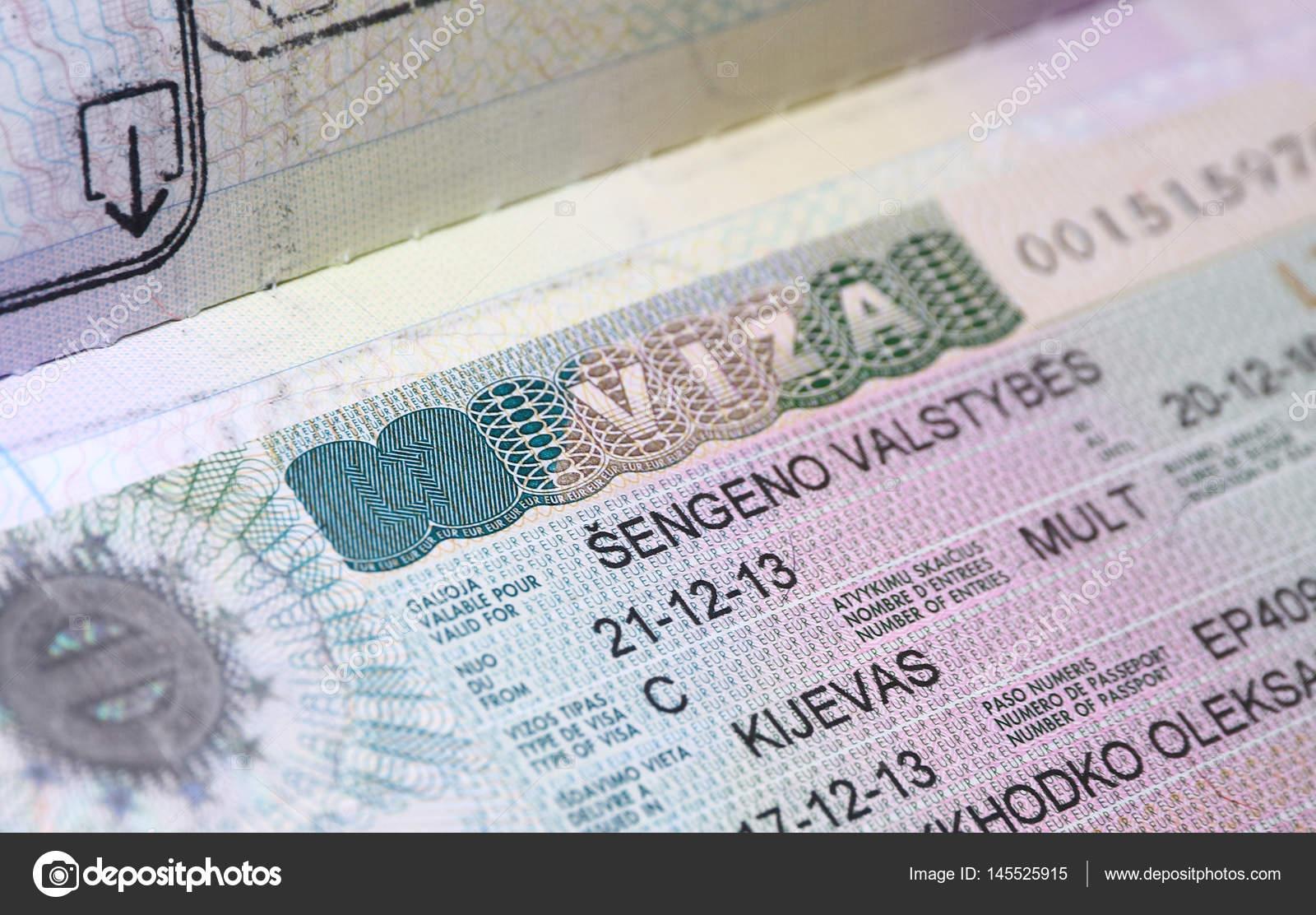 Schon AuBergewohnlich Close Up Seite Des Passes Mit Litauischen Schengen Visum  U2014 Foto Von Katatonia82