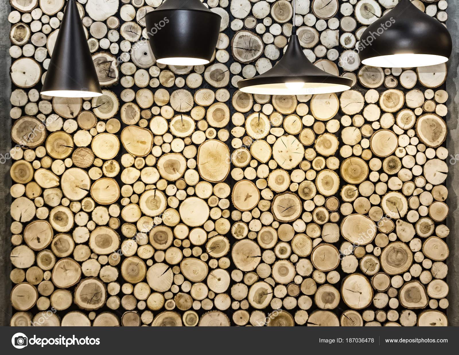 Wall with wooden decorative panels — Stock Photo © katatonia82 ...