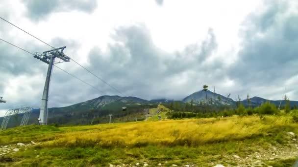 Cable lift in High Tatras Mountains (Vysoke Tatry), Slovakia
