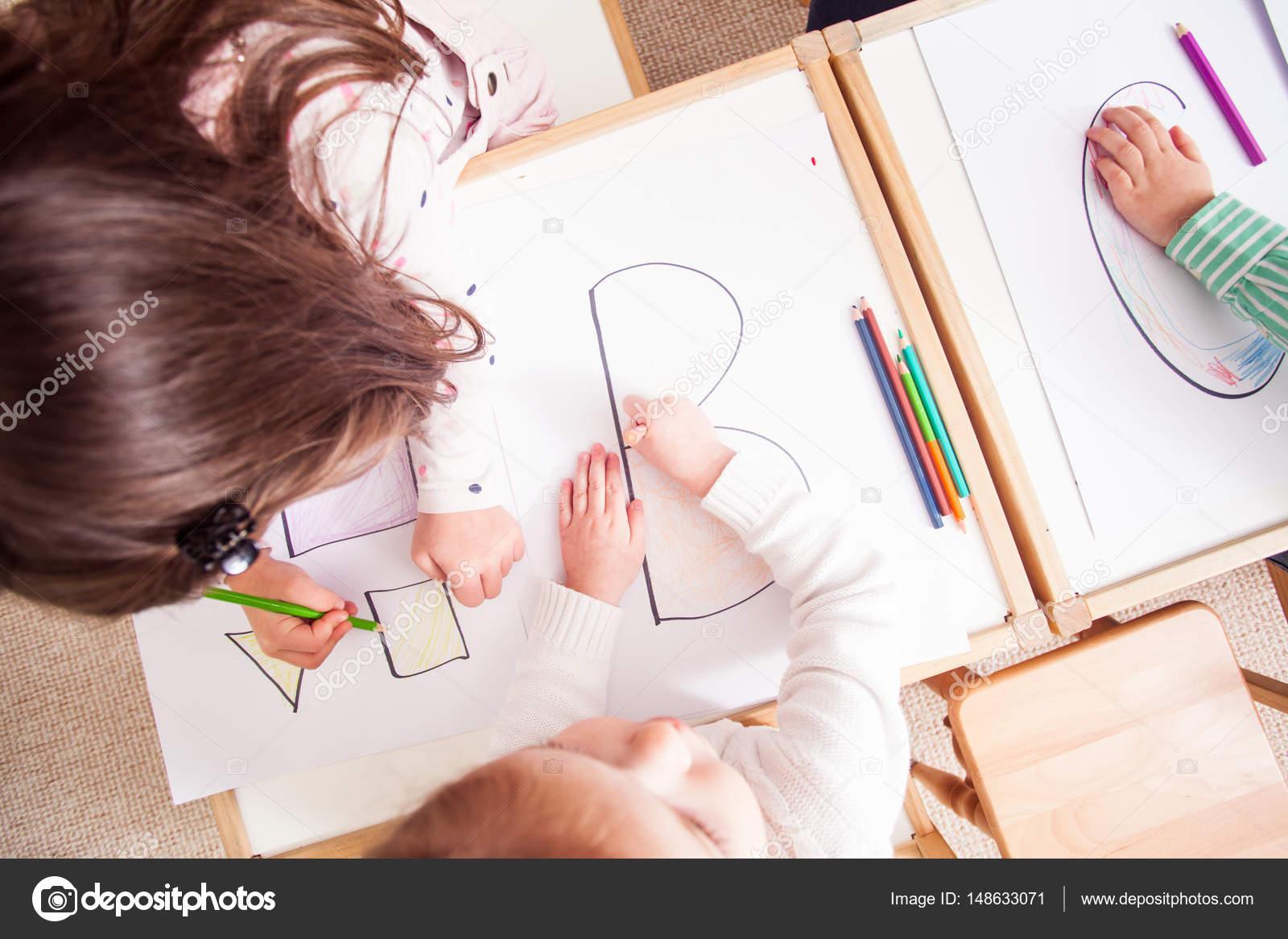 Kleurplaten Vormen Peuters.Peuters Leren Brieven Stockfoto C Oksixx 148633071