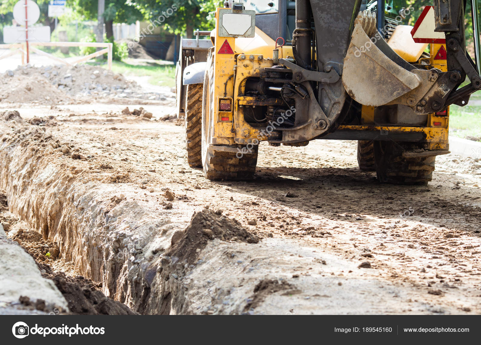 Image result for road work in a suburban neighborhood