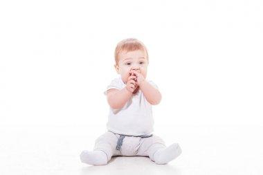 The baby teething