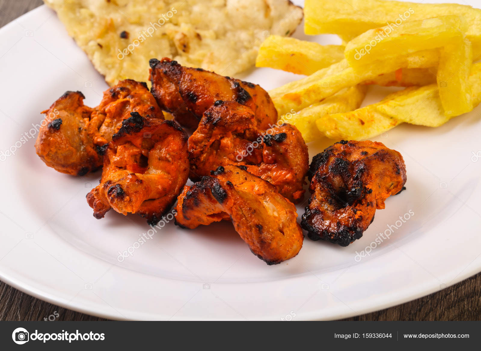 Traditionelle indische Tandoori-Hühnchen — Stockfoto © AndreySt ...