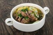 Fényképek Kaukázusi húsleves -, bárány- vagy marhahús Hashlama